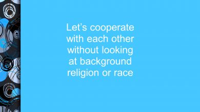 Photo of We Must Cooperate