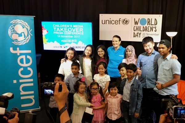 #Kidstakeover Malaysian media on World Children's Day
