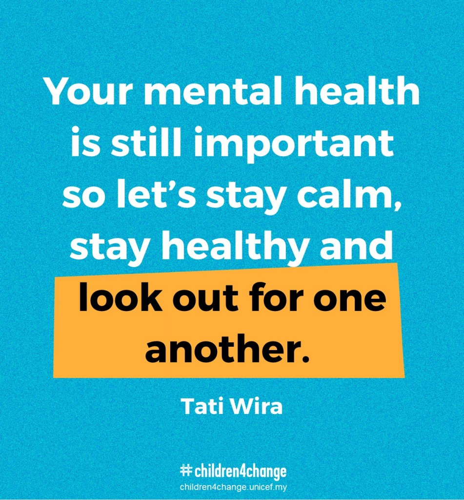 Your mental health is still important so let's stay calm, stay healthy and look out for one another.
