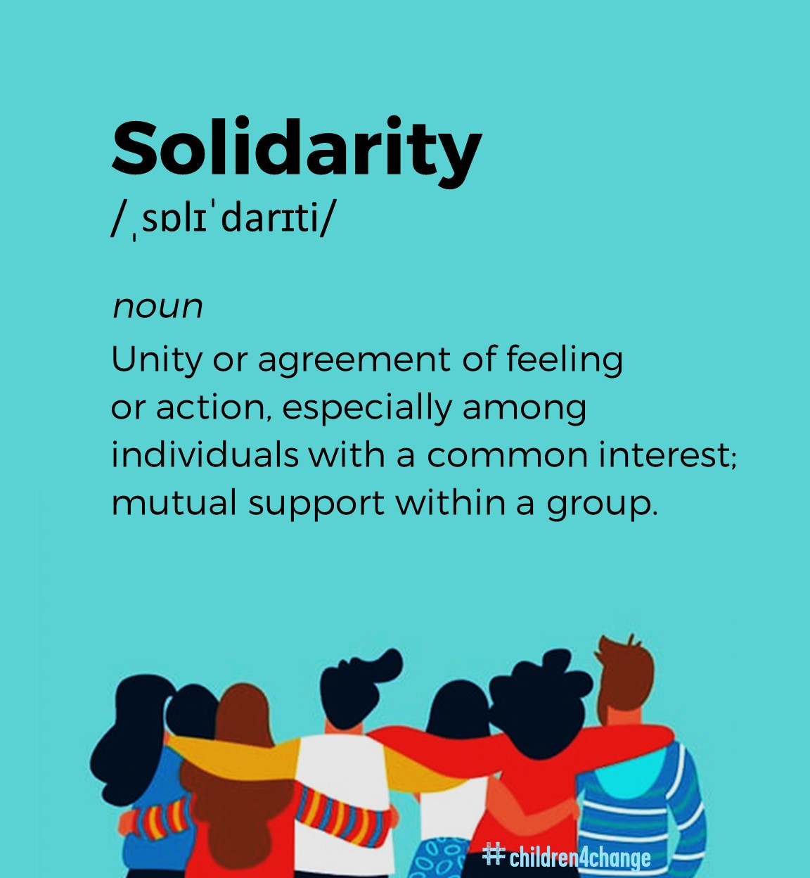 a poster with a definition of solidarity.